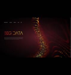 Internet technology big data vector