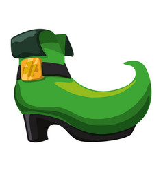 irish elf boot vector image