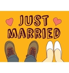Just married couple and sign vector image