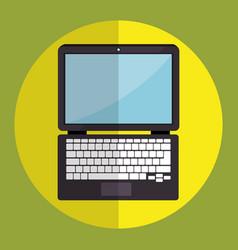 Laptop computer device icon vector