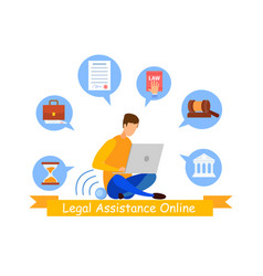 Legal advisor online service web banner template vector
