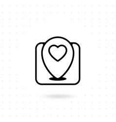 love location icon vector image