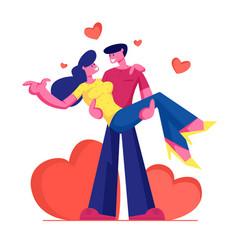 loving couple romantic relations man holding vector image