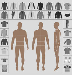 Man clothing set vector