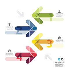 Modern Design Color Arrows Minimal style vector image