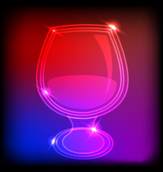 neon glass vector image