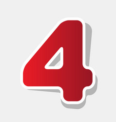 number 4 sign design template element new vector image