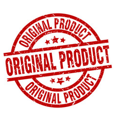 Original product round red grunge stamp vector