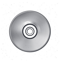 outline compact disc optical laser disk vector image