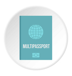 Passport icon circle vector