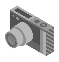 photo camera icon isometric style vector image