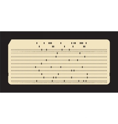 Punched card vintage computer data storage vector