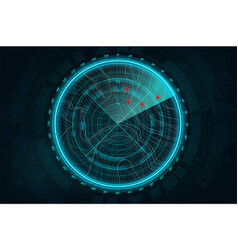 radar screen in futuristic style vector image