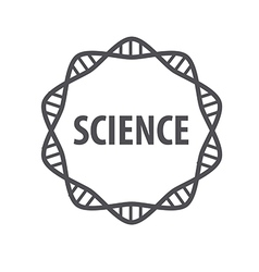 Round logo dna science vector