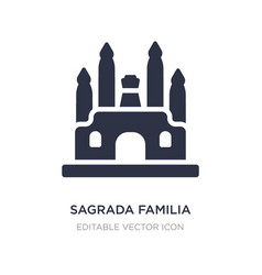Sagrada familia icon on white background simple vector