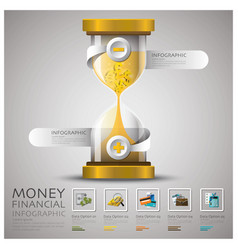 Sandglass Money And Financial Business Infographic vector