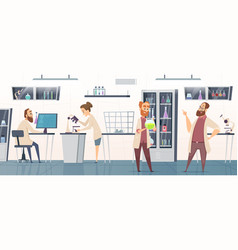 scientific laboratory interior modern chemical vector image