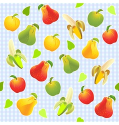seamless fruit background vector image