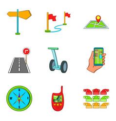 segway icons set cartoon style vector image