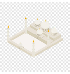 Sheikh zayed grand mosque isometric icon vector