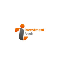 sign for investment bank vector image