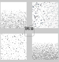 silver sequins bright silver stars on a white vector image