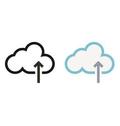 Simply cloud storage minimal icon vector