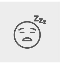 Sleeping thin line icon vector