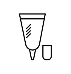 small cream tube line icon sig vector image
