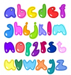 small letters vector image