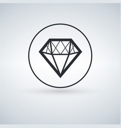 Solid icons for diamond icon vector