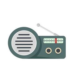 speaker radio icon flat style vector image