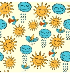 sun and rain vector image