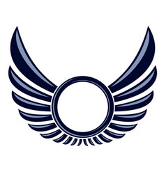Symbol with wings vector