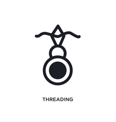 Threading isolated icon simple element from sew vector