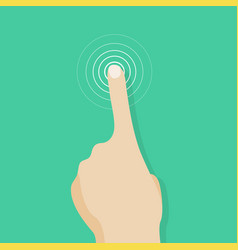 Touch screen finger icon finger to touch screen vector