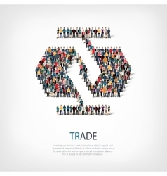 trade people crowd vector image