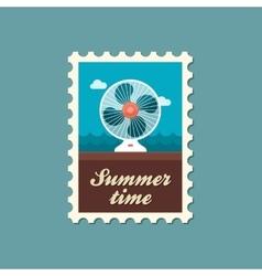 Ventilator stamp Summer Vacation vector
