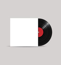 vinyl record with cover mockup realistic style vector image