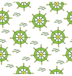 Wheel pattern green yellow vector