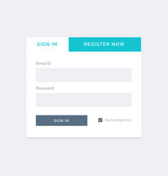 White ui for login form template vector