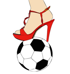 Women and football vector image