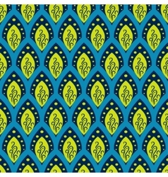 Abstract fish scale blue pattern in oriental style vector image