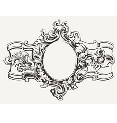 Antique Ornate Frame Engraving vector image vector image