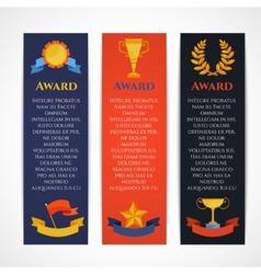 Award banner set vector image