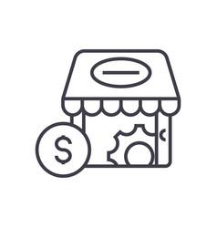 e-commerce marketing concept thin line icon vector image vector image