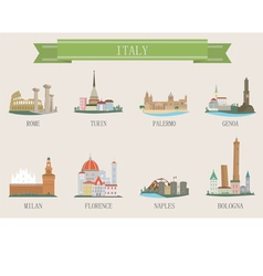 italy city vector image vector image