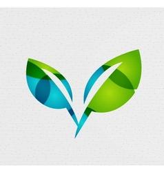 Modern paper design eco leaves concept vector image
