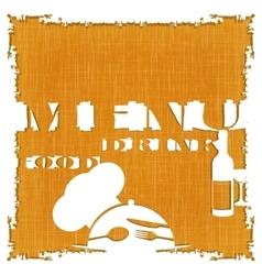 restaurant menu template textural background vector image