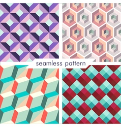 seamless pattern set 9 vector image vector image